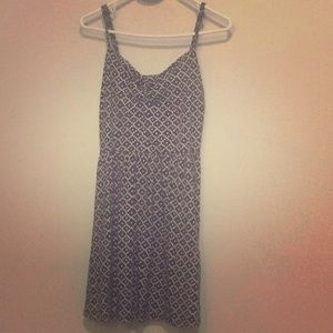 Simple black with white pattern dress